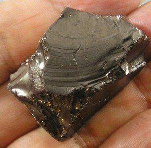 Shungite rock in hand